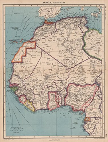 Map Of Africa French.Amazon Com Africa French West Africa Rio De Oro Rio Muni Nigeria