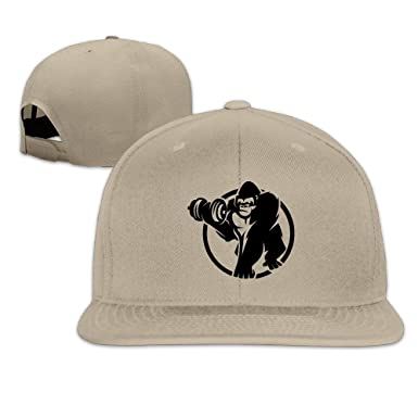 Image Unavailable. Image not available for. Color  Yzksgy Cap Gorilla  Classic Caps Snapback ... 9408e08bbd70