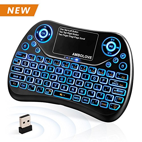 t) Wireless Mini Keyboard with Touchpad Mouse and Multimedia Keys, 2.4GHZ Portable USB Rechargable Li-ion Battery Remote Keyboard Support Smart TV,PC,PAD,Android TV Box,PS4,IPTV (Pocket Pc Qwerty Keyboard)