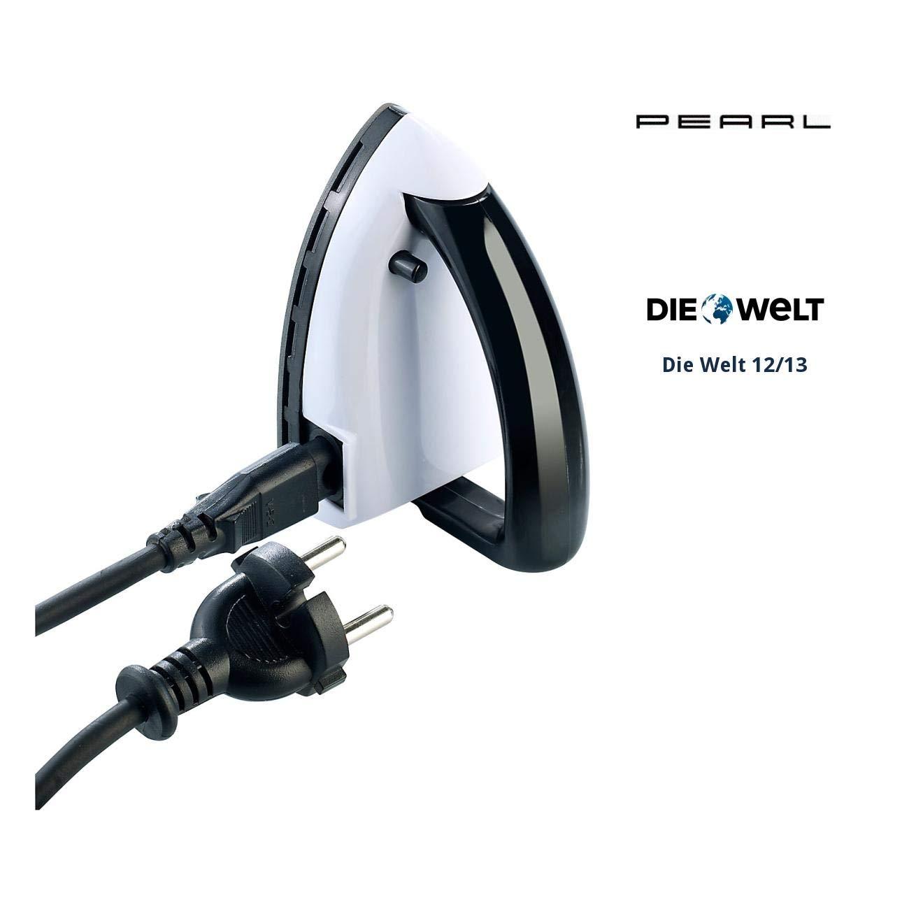 Pearl Mini ferro da stiro da viaggio: mini ferro da stiro da viaggio con protezione da surriscaldamento e LED di controllo (piastre).