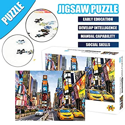 Jigsaw Puzzles 1000 Piece for Adults, PPkloth Time Square Puzzle Game Interesting Toys 16.5x11.7 Inch (Multicolor): Toys & Games