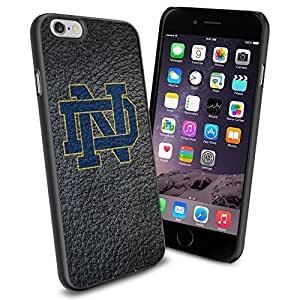 NCAA ND Notre Dame Gray, Cool iphone 4 4s Case Cover Collector iPhone TPU Rubber Case Black
