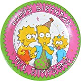Simpsons Vintage 1990 Small Paper Plates (8ct)