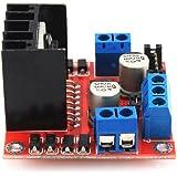 SODIAL(R) Modulo di scheda di controllo dell'azionamento del motore a passo a passo DC L298N per arduino Dual H Bridge