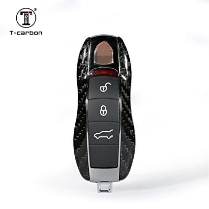 Carbon Fiber Key Fob Cover For Porsche Key Fob Remote Key, Fit Porsche 718  911 918 Panamera Macan Cayenne Boxster Cayman Car Key, Light Weight Glossy