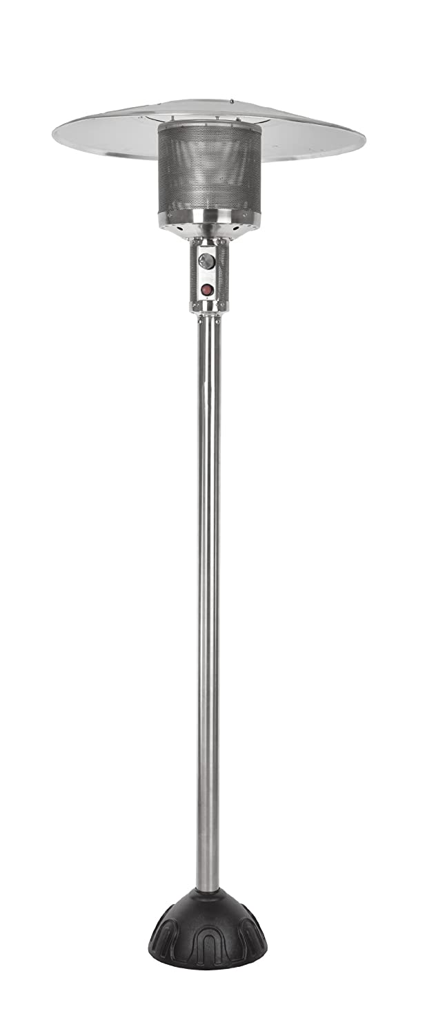 Fire Sense 61445 Natural Gas Patio Heater, Stainless Steel