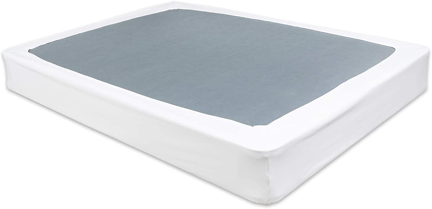 Mattress Foundation Cover Prymal Bedding Box Spring Cover Queen Wrap Around Elastic Bed Skirt Alternative Box Spring Protector White