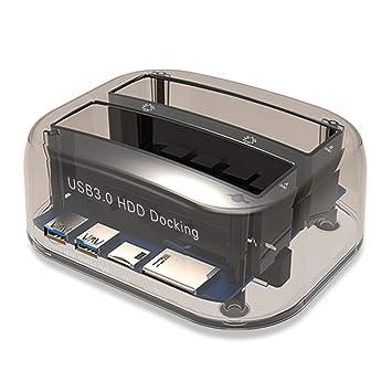 Gwendoll Estación de Acoplamiento de Disco Duro Externo USB 3.0 a ...