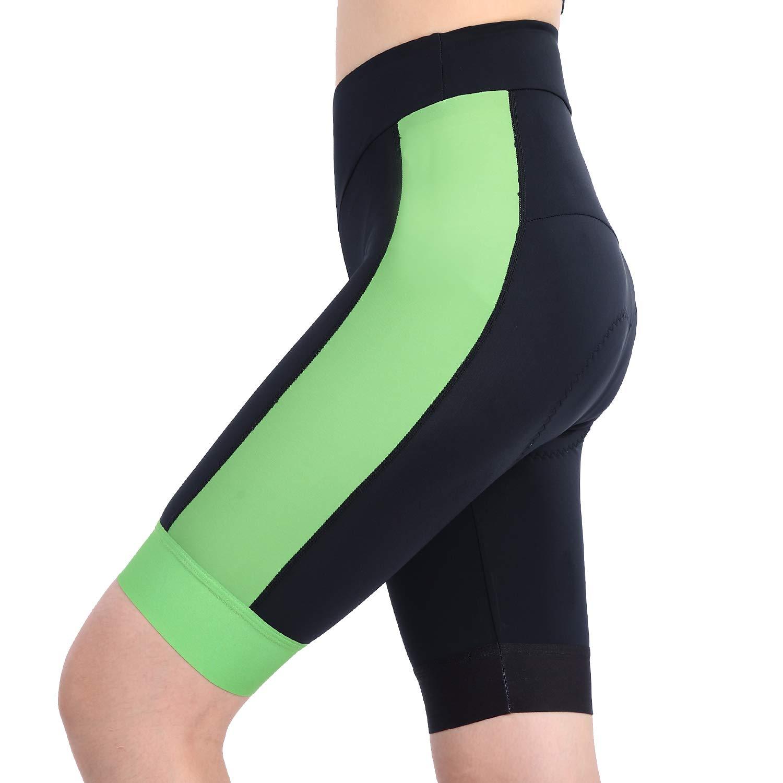 beroy Bike Shorts with 3D Gel Padded,Womens Gel Cycling Shorts(S,Green)