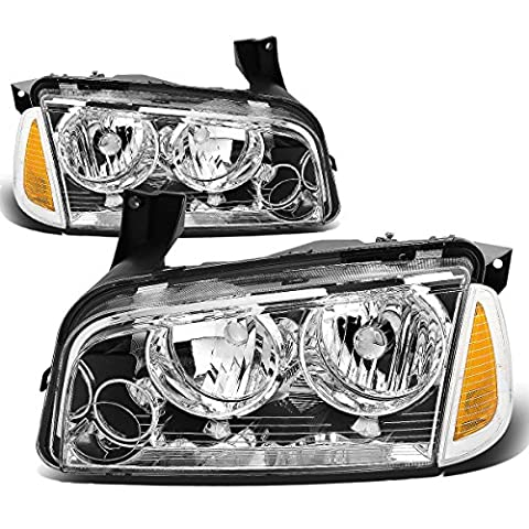DNA MOTORING HL-OH-CHA05-4P-CH-AM Headlight Assembly, Driver and Passenger Side - Dodge Van Headlight Assembly