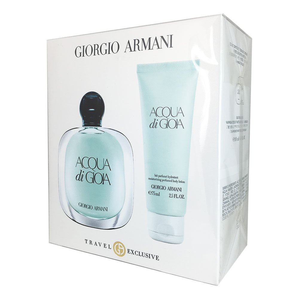 Giorgio Armani Acqua Di Gioia for Women 3.4-Ounce EDP Spray 2-Piece Travel Set W-GS-3343