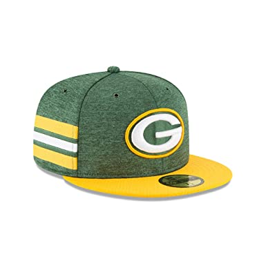 New Era Green Bay Packers NFL Sideline 18 Home On Field Cap 59fifty Fitted  OTC 23883c35e