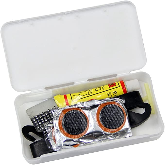 24pcs 25mm round square  bicycle bike tire tyre rubber patch repair tools kit/>v