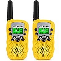 Baofeng T-3 Kids Walkie Talkie - Radio3 de Dos vías, 1 par Amarillo