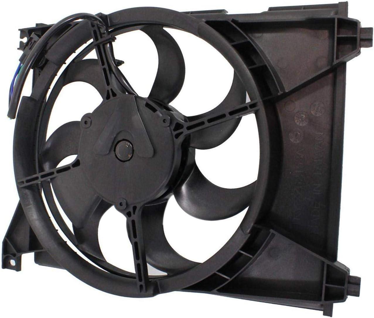 TOPAZ 97730-38000 A/C Condenser Radiator Cooling Fan Assembly for Hyundai Sonata 1999-2004 Kia Optima 2001-2006
