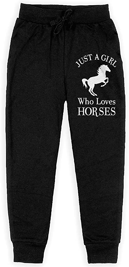 Love Horse Girl Sweatpants with Pockets Lounge Pants