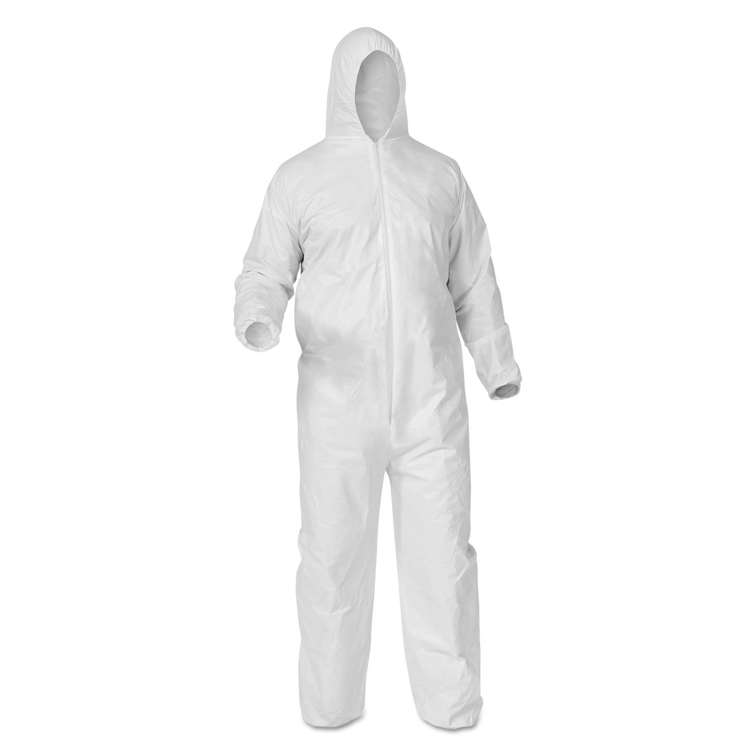Kimberly-Clark Professional KleenGuard 38939 A35 Coveralls, Hooded, X-Large, White, 25/Carton