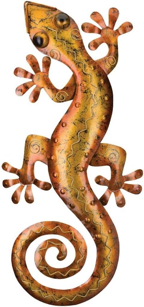 Regal Art & Gift 5527 Gecko Decor 29-Amber Wall Décor, Copper