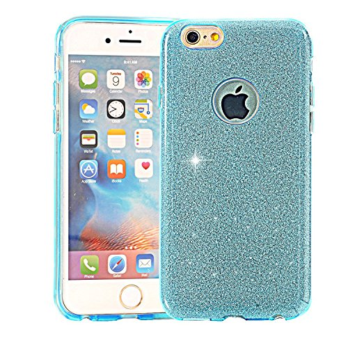 iPhone 7 Glitter Cases,HIQUE Back Cover Shinning Beauty Crystal Rhinestone Sparkle Glitter Hard Diamond Hybrid Cover Bling Case for 4.7