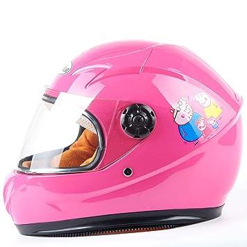 NJ Casco- Casco eléctrico para niños, ciclomotor, niño y niña, Adecuado para niños de 6 a 10 años (Color : Pink): Amazon.es: Deportes y aire libre