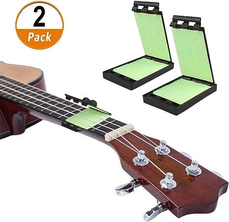 2 Piezas Limpiador para Guitarra Eléctrica de Cuerdas y Diapasón ...
