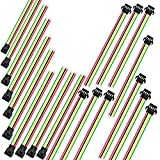 RAYSUN 10 Pairs (Male & Female) 15CM 4 Pin JST SMP & SMR Wire Connector for RC Lipo Battery / LED Lights - 24 AWG Silicone Cord