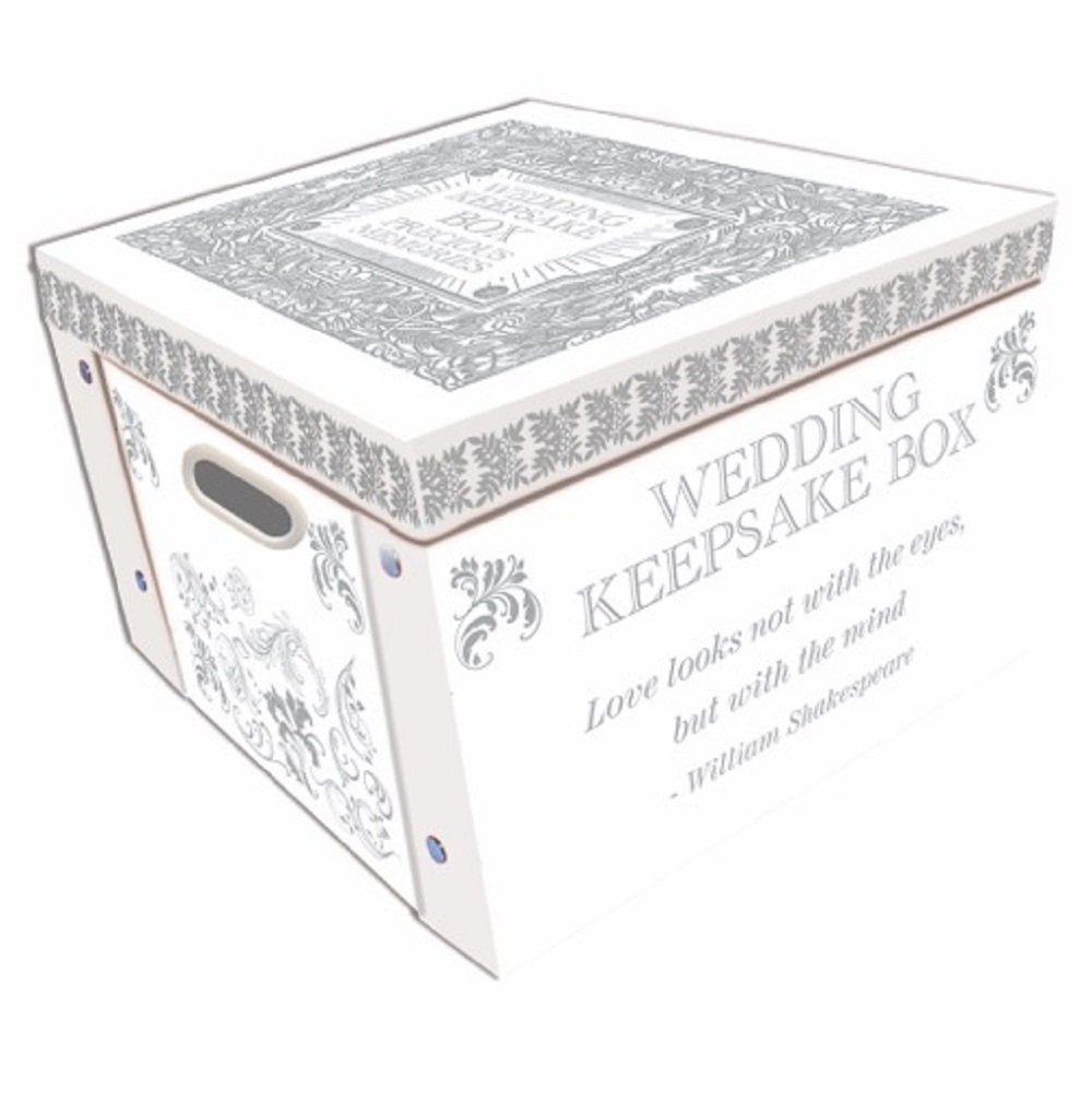 Robert Frederick Wedding Keepsake Collapsible Storage Box, Plastic, Assorted RFS10348