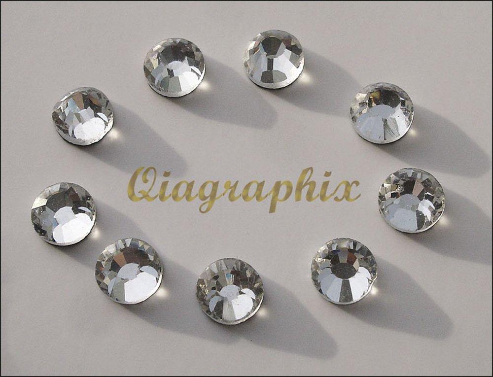 Qiagraphix 2 x 1440 Pcs DMC Iron On Hotfix Crystal Rhinestones Clear SS10, 2.7 2.9mm SS10A   B0170VYP5C