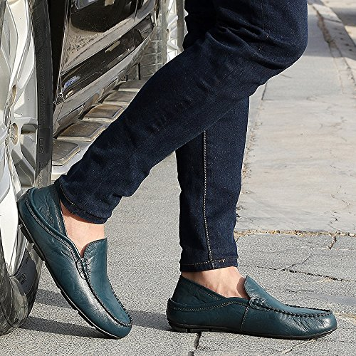Fashion Mens Driving Shoes Premium Genuine Leather Slipper Casual Loafers Shoes Business Shoes