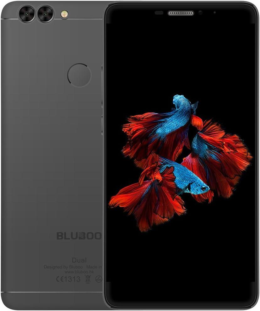 BLUBOO Dual 4G Smartphone Android 6.0 5.5 Inch MTK6737 Quad Core 1.5GHz, 2GB RAM 16GB ROM, 2.0MP + 13.0MP Dobles Cámara y Trasera Escáner de Huellas Dactilares [Negro]: Amazon.es: Electrónica