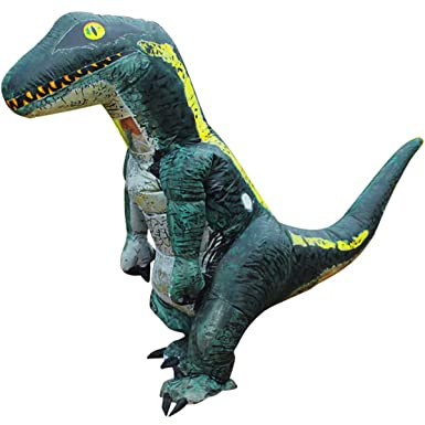 491afafb0 Amazon.com: Inflatable Dinosaur Costume T-Rex Costume Velociraptor  Inflatable Suit Jurassic World Halloween Dress for Kids and Adult: Clothing