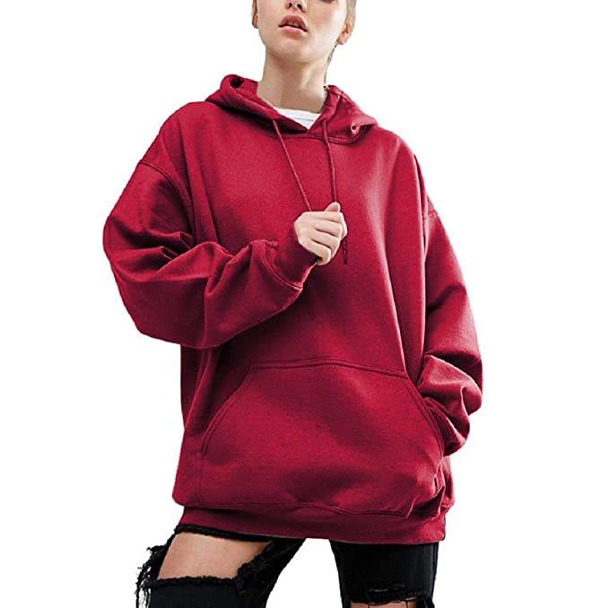 2e929ba67bf60 Canserin Hot Sale!Women Hoodie Sweatshirt, Women Fashion Hoodie Sweatshirt  Loose Casual Long Sleeve Hoodied Pullover Autumn Winter Hoodies Sweater  Coat Tops