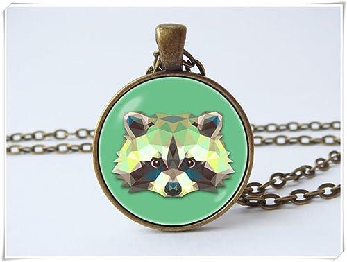 Amazon.com: Mapache mapache Collar de la joyería colgante de ...