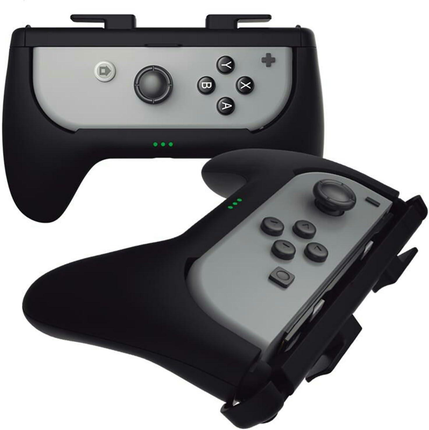 Sliq Gaming Nintendo Switch Joy Con Charge Grip (Negro) - Agarre del controlador + batería integrada - Añade hasta 5 horas de duración de la batería mientras juegas: Amazon.es: Videojuegos