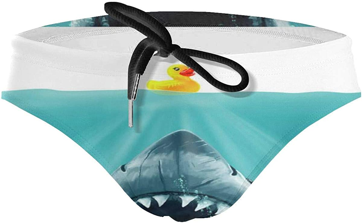 Mens Swimsuit Save Ducky from The Shark Funny Duck Swimwear Swim Bikini Briefs Board Surf Shorts Trunks