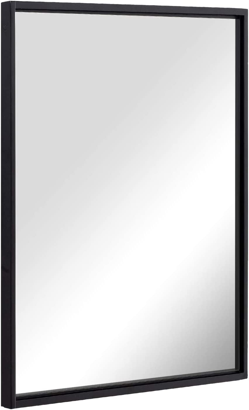 Shop Wall Mounted Mirror 24x36 Inch Black from Amazon on Openhaus