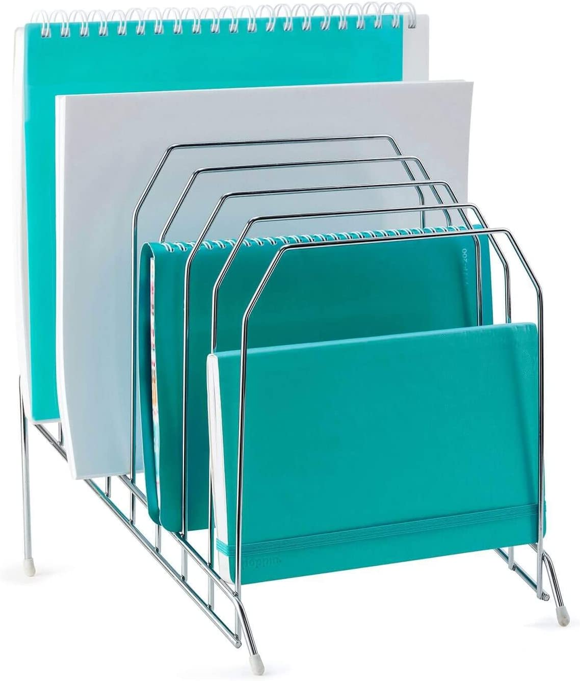 Mindspace Multi Step File Organizer | Stackable Letter Tray | File Holder | The Wire Collection, Silver