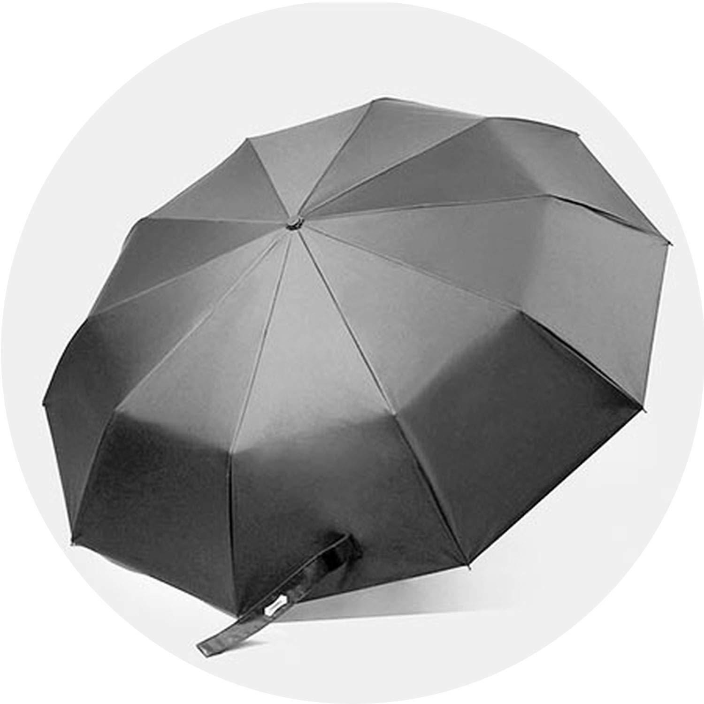 Strong Windproof Rain Umbrellas Anti UV Automatic Folding Umbrella Men Women 10K Sun Protection Wooden Handle Paraguas,Gray