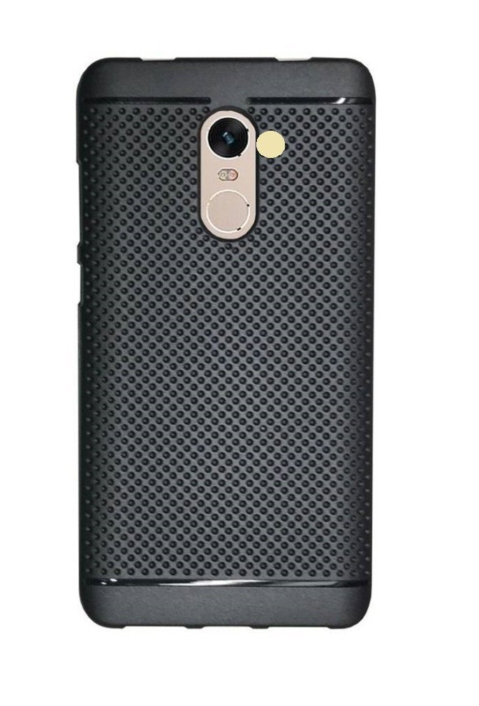 Bigzook 360* Protection Premium Dotted Designed Soft Rubberised Back Case Cover For Huawei Honor 6X [Classic Dotted Series] - Black