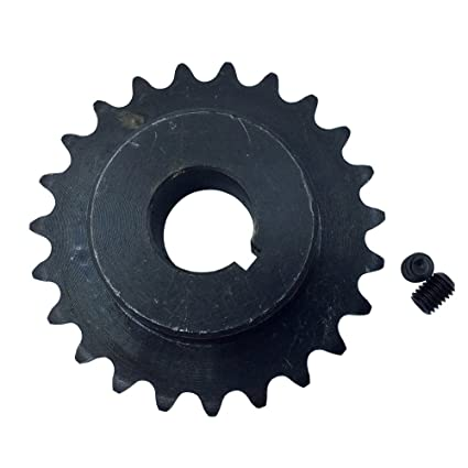 KOVPT # 35 Roller Chain Sprocket 35 Teeth Bore 0.75inch B Type Teeth Pitch 0.375 inch Black 1PCS