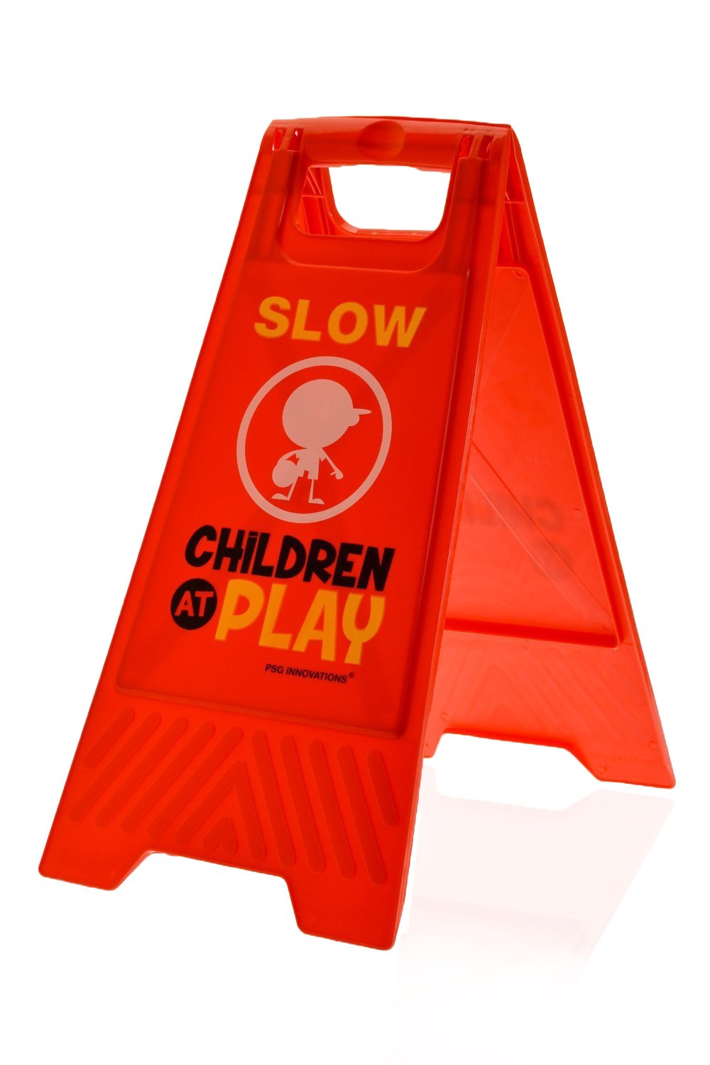 Children at Play Slow Sign for Yards and Driveways (Double-Sided, Red) - ''Slow, Children at Play'' by Essentially Yours
