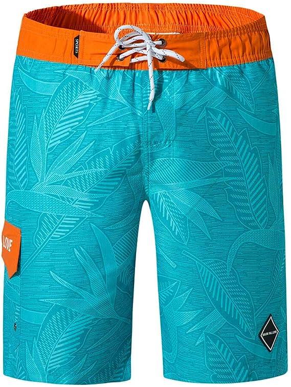 LSYSAG Shorts de playa a rayas de secado rápido para hombre