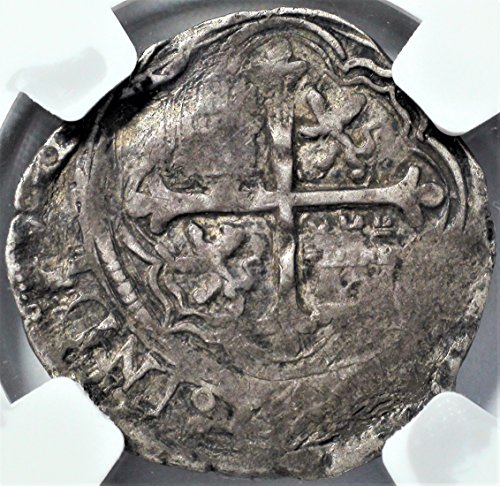 MX 1556-98 Spanish Mexico Coins King Philip II of Spain Antique Silver Coin Real VF30 NGC (Silver Mexican Coin Set)