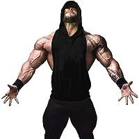 45452665a2e ZUEVI Men s Muscle Sleeveless Hoodies Gym Bodybuilding Stringer Tank Tops