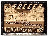 SOCCER METAL SIGN college / high school SPORTS vintage style MANCAVE boys girls room decor 0144