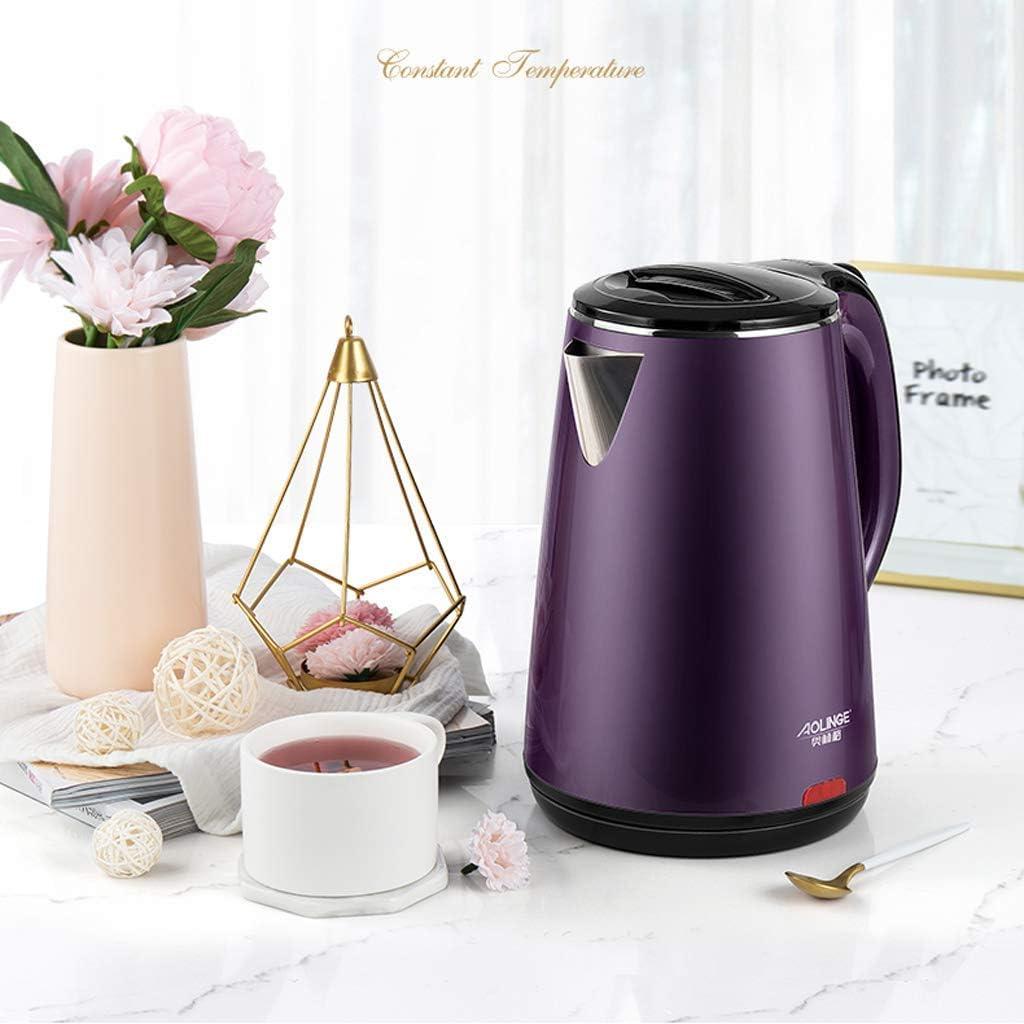 1 8 l Wasserkocher mit großer Kapazität für Tee und Kaffee mit Edelstahlmaterial und Isolationsfunktion 1500W Navy