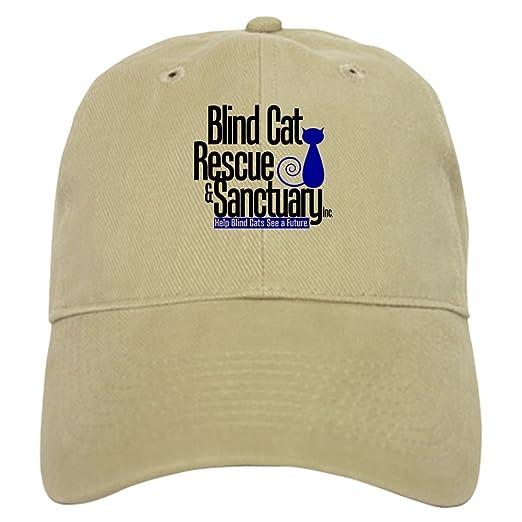 46ed6454bc9 Amazon.com  CafePress - Blind Cat Rescue   Sanctuary Cap - Baseball Cap  with Adjustable Closure