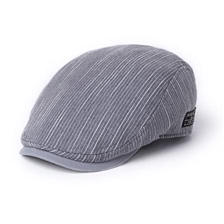 0cfc7814772 LBY Hat Male Summer Korean Version Of The Tide Spring And Autumn Cap  Personality Youth Beret Casual Wild Forward Cap sun hats (Color   Grey)   Amazon.co.uk  ...