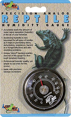 Zoo Med Precision Analog Reptile Humidity Gauge Precision Analog Reptile Thermometer