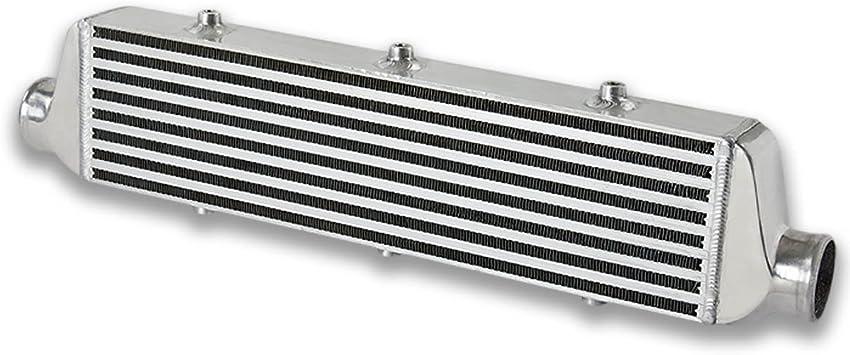 "Auto 27.5/"" X 7/"" X2.375/"" Fmic Tube /& Fin Front Mount Turbo Aluminum Intercooler"